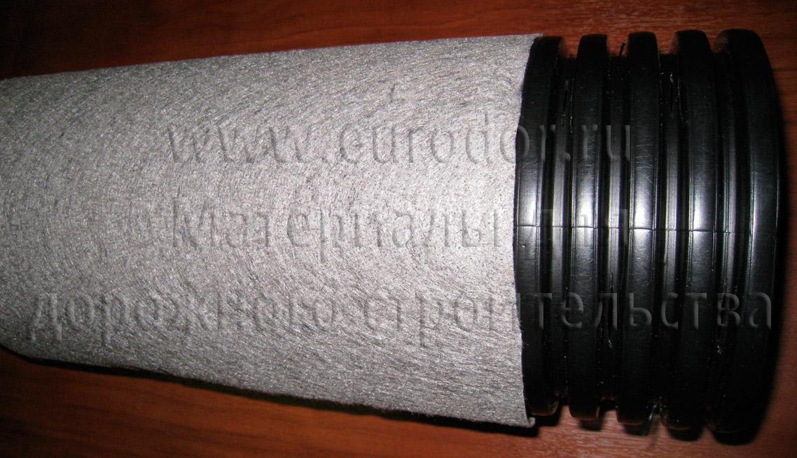 Дренажная труба с геотекстилем