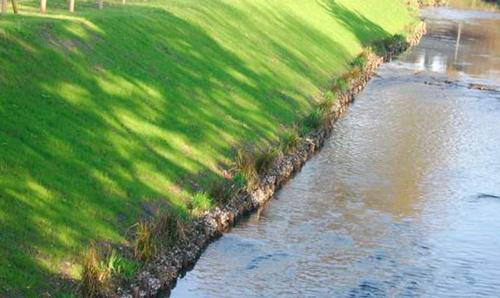 Укрепление берега водоема габионами и георешеткой