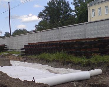 Геотекстиль на трамвайных путях, Камчатская