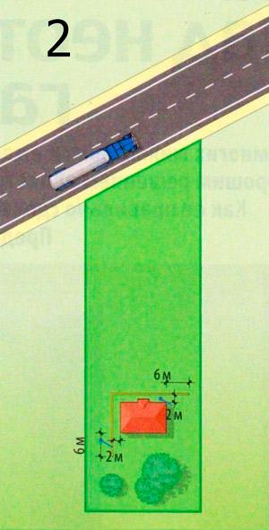 Ров в качестве экрана, расположенный в линию параллельно дороге