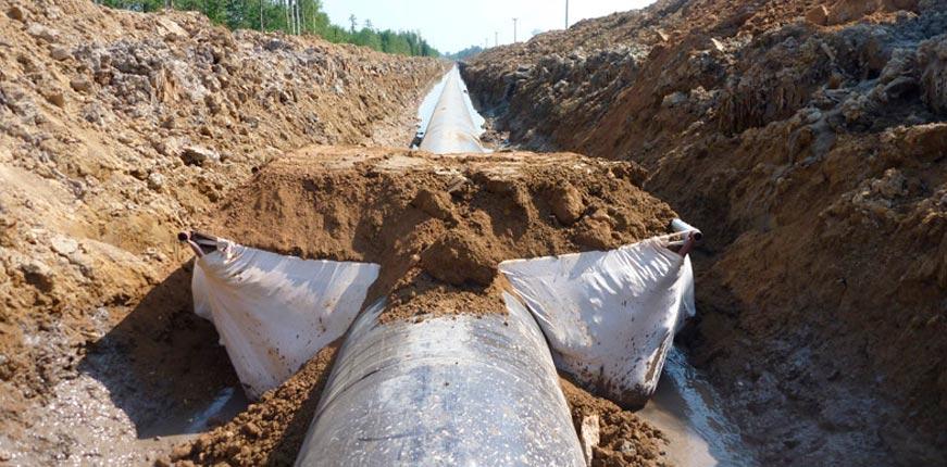 Геотекстиль в трубопроводах