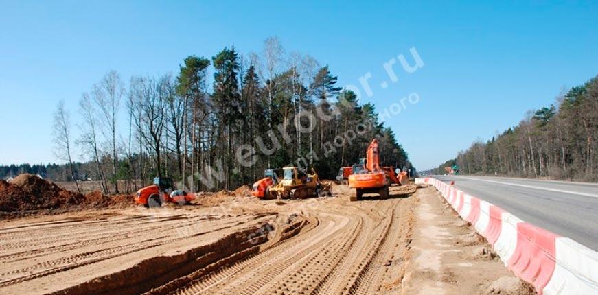 Земляные работы при реконструкции дорог