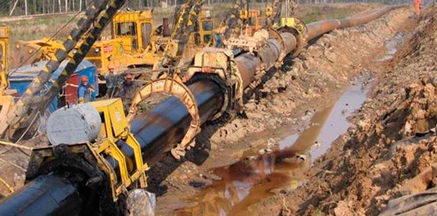 балластировки и закрепления трубопроводов с использованием геотекстиля