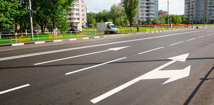 Новая дорожная разметка на улицах Санкт - Петербурга