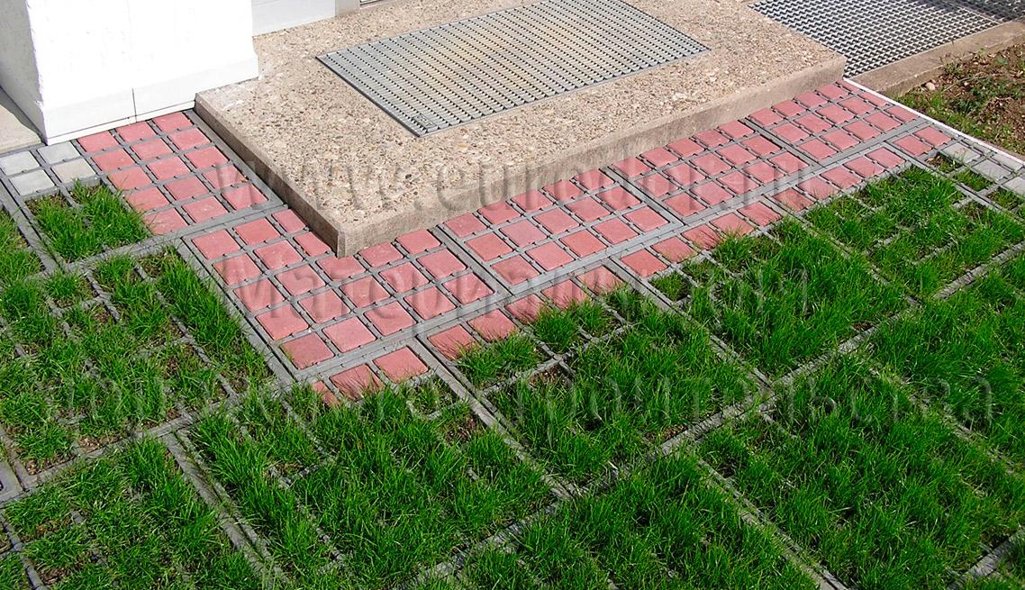 Пример укладки газонной решетки