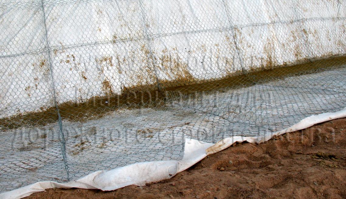 Матрац сетчатый укрепление канав