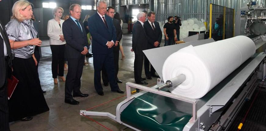 Новая линия геотекстиля на фабрике нетканых материалов в Курской области