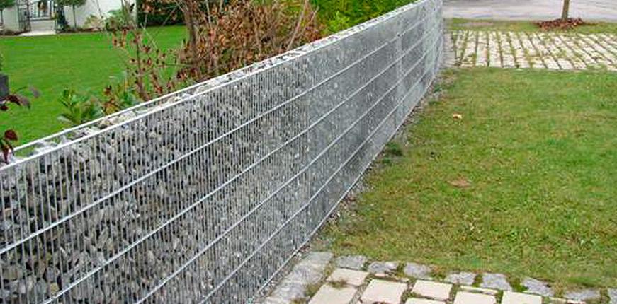 Забор из габионов